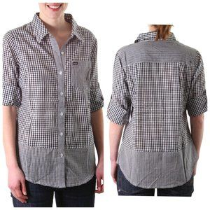 RVCA 100% Cotton Gingham Button Down Shirt